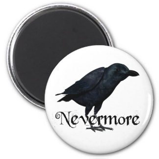 3D Nevermore Raven 2 Inch Round Magnet