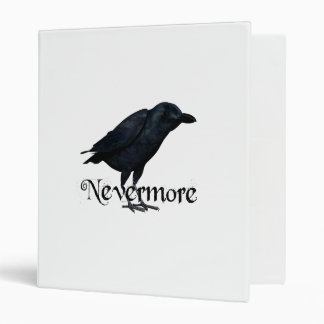 3D Nevermore Raven 3 Ring Binders