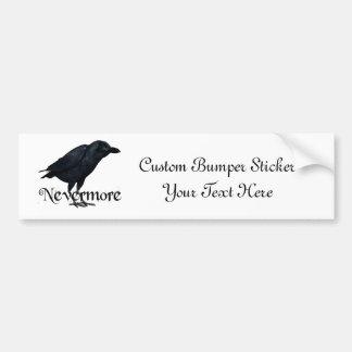 3D Nevermore Raven Bumper Sticker