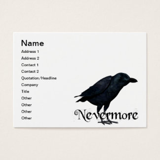 3D Nevermore Raven Business Card