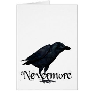 3D Nevermore Raven Greeting Card