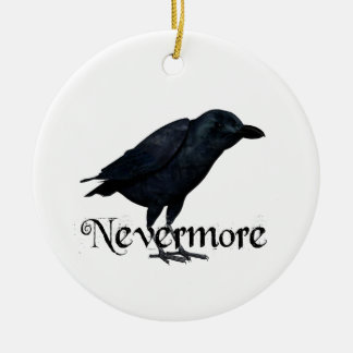 3D Nevermore Raven Ceramic Ornament