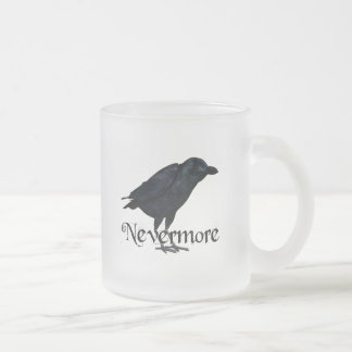 3D Nevermore Raven Frosted Glass Coffee Mug
