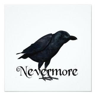 3D Nevermore Raven 5.25x5.25 Square Paper Invitation Card