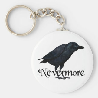 3D Nevermore Raven Basic Round Button Keychain