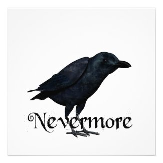3D Nevermore Raven Personalized Invites