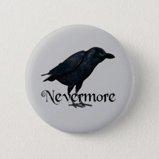 3D Nevermore Raven Pinback Button