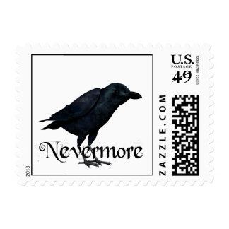 3D Nevermore Raven Postage Stamp