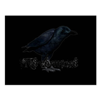 3D Nevermore Raven Postcard