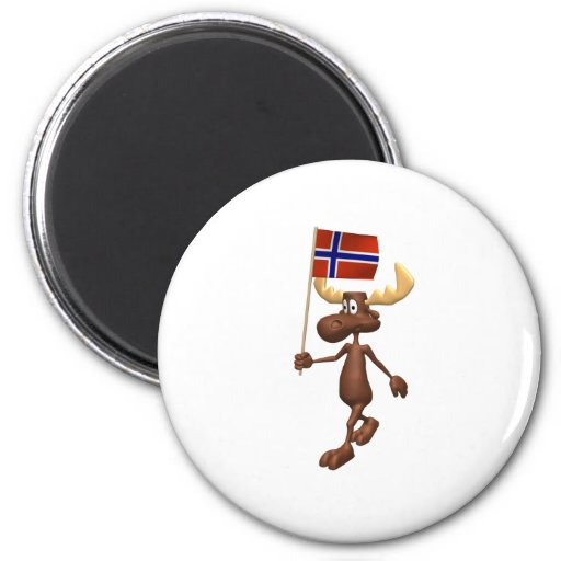 3D Norway 2 Inch Round Magnet