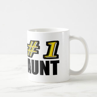 3D Number One Aunt Classic White Coffee Mug