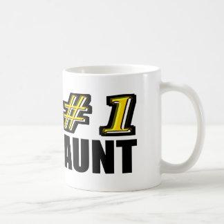 3D Number One Aunt Coffee Mug