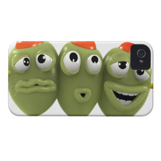 3d Olives on a stick iPhone 4 Cover