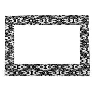 c757c098296 3D Optical Illusion Black White Magnetic Frame