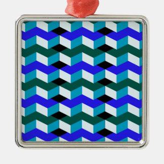 3d optical illusion metal ornament