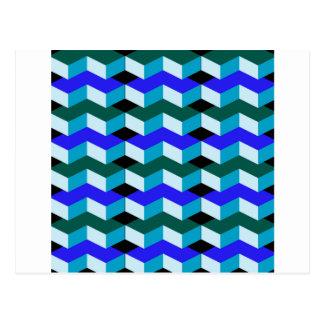 3d optical illusion postcard
