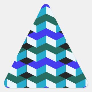 3d optical illusion triangle sticker