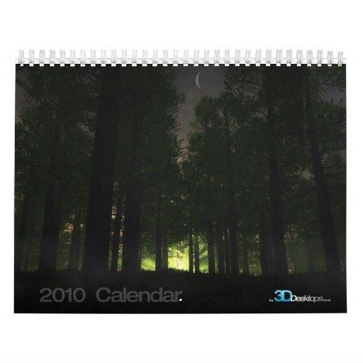 3D paisajes - calendario de pared 2010