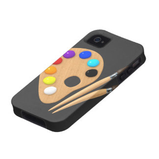 3d Palette and Brushes iPhone 4 Covers