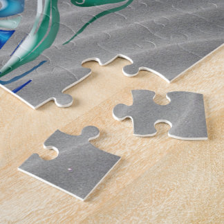 3d Palms, Waves & Sunset BIG ISLAND Jigsaw Puzzle