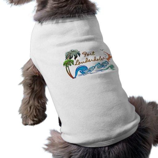 3d Palms, Waves & Sunset FORT LAUDERDALE Dog Clothes