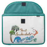 3d Palms, Waves & Sunset FORT LAUDERDALE Sleeves For MacBooks