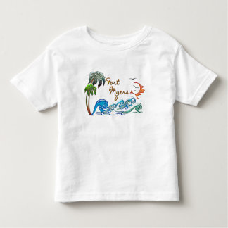 3d Palms, Waves & Sunset FORT MYERS Toddler T-shirt