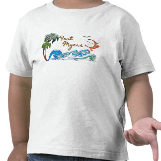 3d Palms, Waves & Sunset FORT MYERS Tees