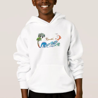 3d Palms, Waves & Sunset KAUAI Hoodie