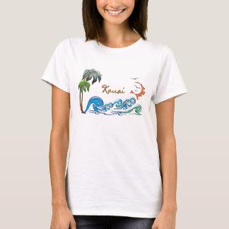 3d Palms, Waves & Sunset KAUAI T-Shirt