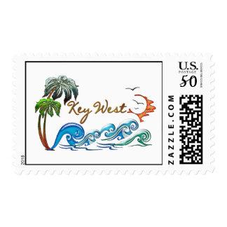 3d Palms, Waves & Sunset KEY WEST Postage