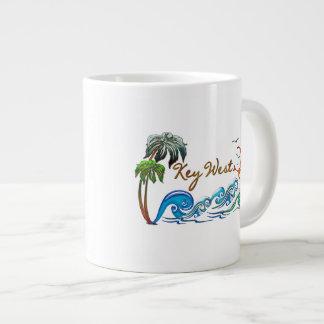 3d Palms, Waves & Sunset KEY WEST Jumbo Mug