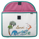 3d Palms, Waves & Sunset LANAI Sleeves For MacBook Pro