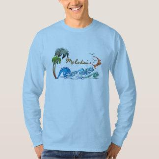 3d Palms, Waves & Sunset MOLOKAI T-shirt