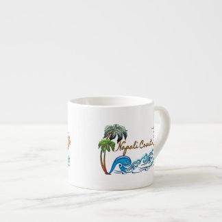 3d Palms, Waves & Sunset NAPALI COAST Espresso Cup