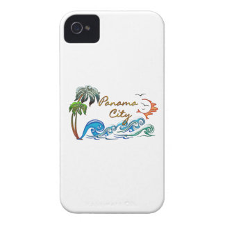 3d Palms, Waves & Sunset PANAMA CITY iPhone 4 Covers