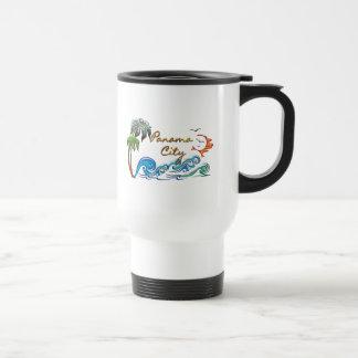 3d Palms, Waves & Sunset PANAMA CITY Travel Mug