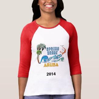 3D Palms Waves Sunset Spring Break ARUBA Tshirts