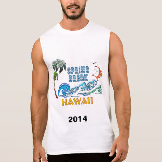 3D Palms Waves Sunset Spring Break HAWAII Sleeveless Shirt