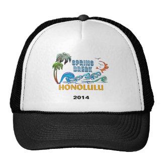 3D Palms Waves Sunset Spring Break HONOLULU Trucker Hat