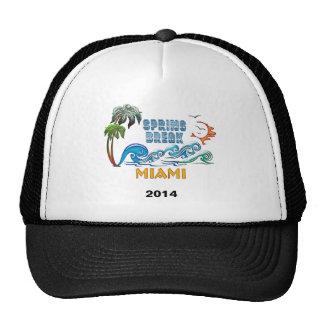 3D Palms Waves Sunset Spring Break MIAMI Trucker Hat
