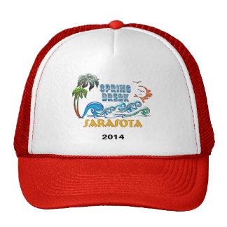 3D Palms Waves Sunset Spring Break SARASOTA Trucker Hat