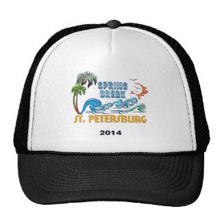 3D Palms Waves Sunset Spring Break ST PETERSBURG Trucker Hat