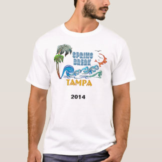 3D Palms Waves Sunset Spring Break TAMPA T-Shirt