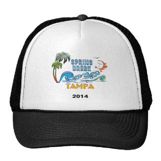 3D Palms Waves Sunset Spring Break TAMPA Trucker Hat