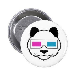 3D Panda 2 Inch Round Button