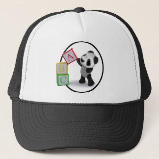 3d Panda Alphabet Blocks Trucker Hat
