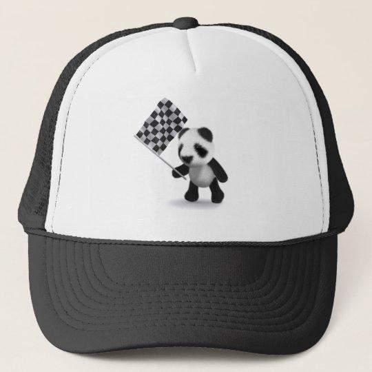 3d Panda Checkered Flag Trucker Hat  152c7b6c5e65