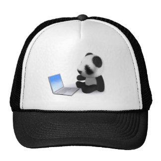 3d Panda Laptop Trucker Hat