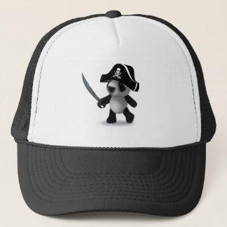 3d Panda Pirate Trucker Hat